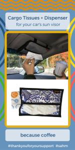 car organization road trip tips tricks hacks minivan messes tissues dispenser kids coffee